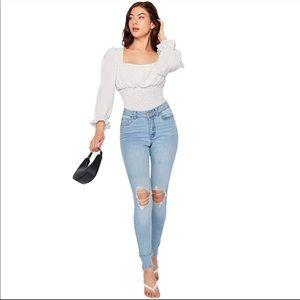 Refuge High Waist Distressed Skinny Jeans Sz 0